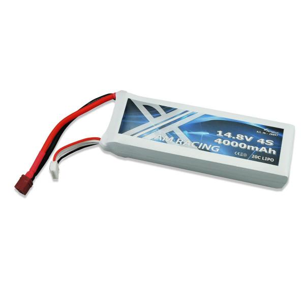 LiPo Akku 4S 14,8V 4000mAh 20C Softcase, DEANS