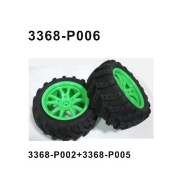 002-3368-P006 Komplettrad - gelb vorne/hinten 2 Stück - GELB !