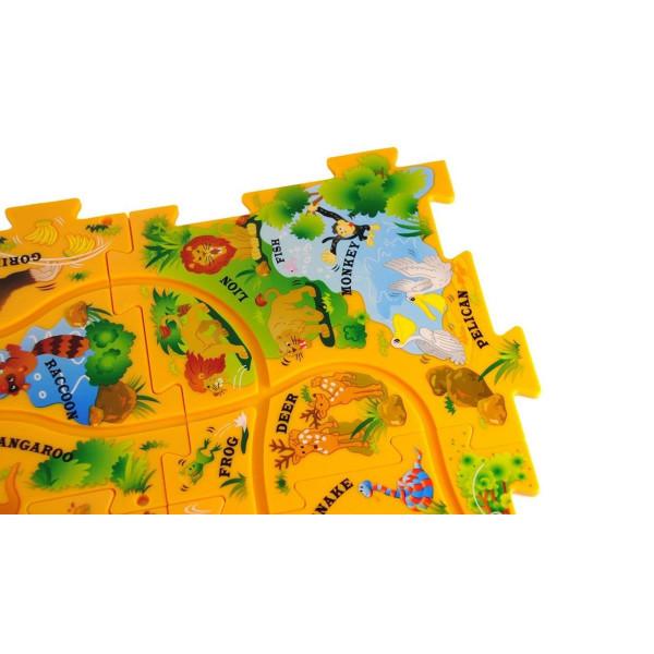 Puzzle Pilot Safari Puzzle-Set mit Fahrzeug