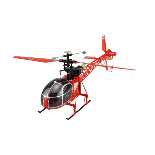 RC Helikopter LAMA Luftrettung rot mit LCD Fernsteuerung 4 Kanal, 2.4 GHz