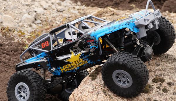 Ferngesteuerter großer Crawler für innen- und außen, blau, 1:10, 2,4GHz, inkl. Akku