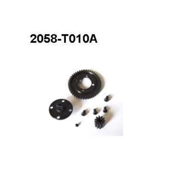 2058-T010A Brutal Pro Hauptzahnrad + Motorritzel Sta