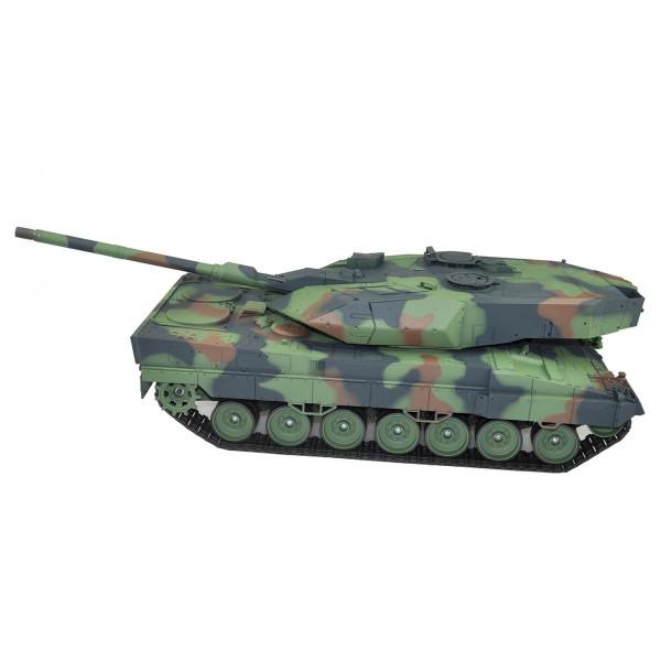 Ferngesteuerter Leopard 2A6 Kampfpanzer mit Metallketten und Schußfunktion