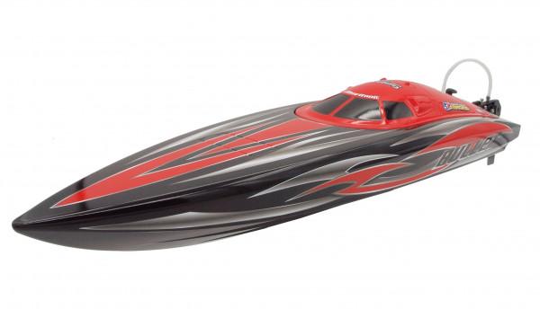 Speedboot Bullet V3 Mono-Rennboot 4S brushless ARTR rot 60km/h