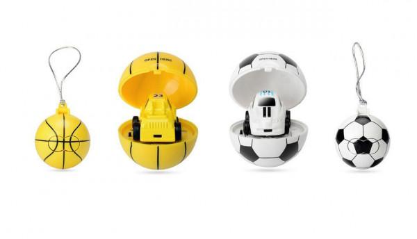 Mini RC Telecar im Ball als Schlüsselanhänger