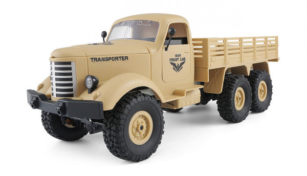 RC U.S. Militär Truck 6WD 1:16 RTR, desert gelb