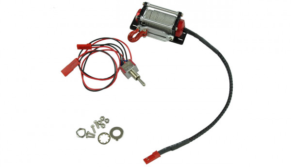 Alu Winden Set für RC Modellbau mit innen liegendem Motor & Schalter