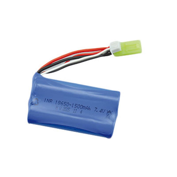 LI-ION AKKU 1500mAh 7,4V S-Track / V2  Mini Tamiya plug 18650
