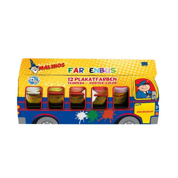 Malinos Farben Bus 12 Tempera Plakatfarben