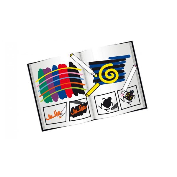 Malinos Farbenzauber 5+5, Farbe übermalt Farbe