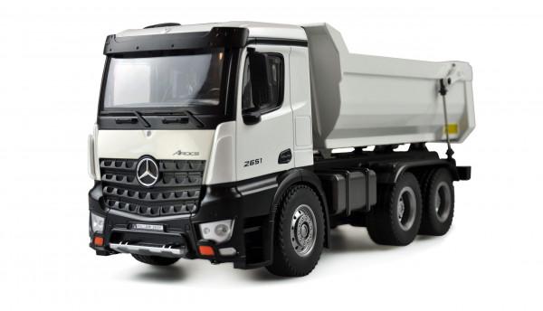RC Kipper Metall LKW / Truck Mercedes weiß 2,4GHz RTR 6x4 WD Elektro
