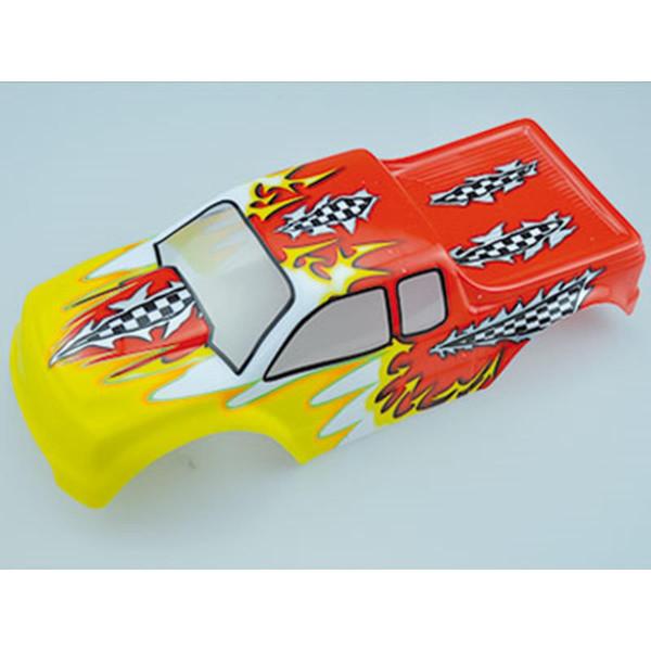 10110-1 Karosserie rot/gelb Monstertruck 1:10