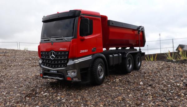 Ferngesteuerter RC Truck Mercedes Benz Arocs rot 1/14 RTR  4WD