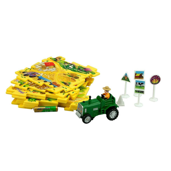 Puzzle Pilot Traktor Puzzle-Set mit Fahrzeug