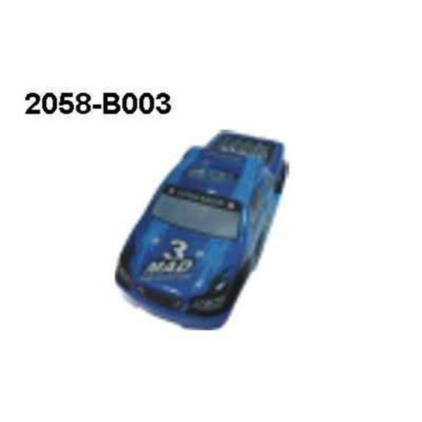 2058-B003 Karosserie blau Monstertruck Brutal Pro 1:16