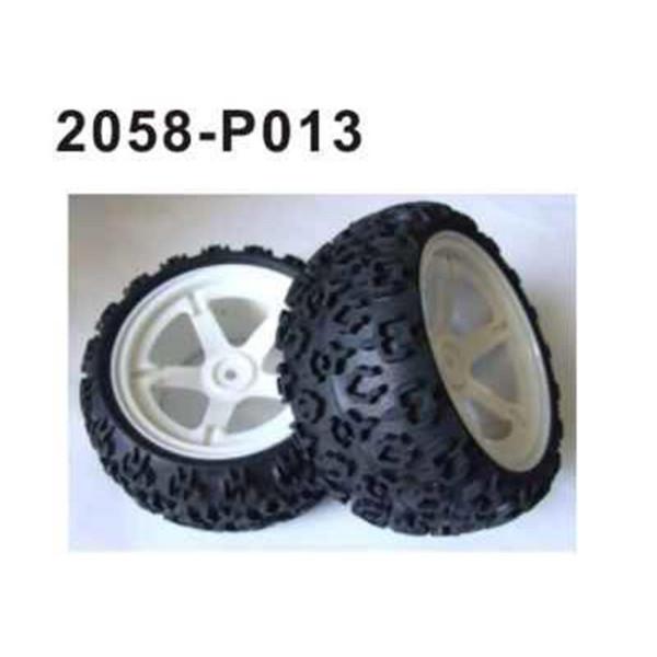 2058-P013 Brutal Pro Komplettrad vorne/hinten 2 Stü