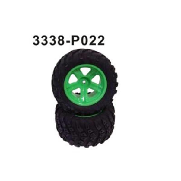 3338-P022 Komplettrad vorne/hinten 2 Stü
