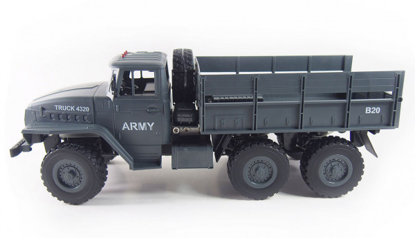 RC Ural 4320 Militär US Army LKW 6WD 1:12 RTR, grau super Scale Truck Metall Chassis
