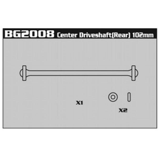BG2008 Center Driveshaft (Rear) 102mm
