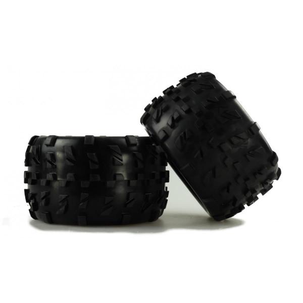 Monstertruck Kompletträder 1:8 schwarze Felge, 2 Stück