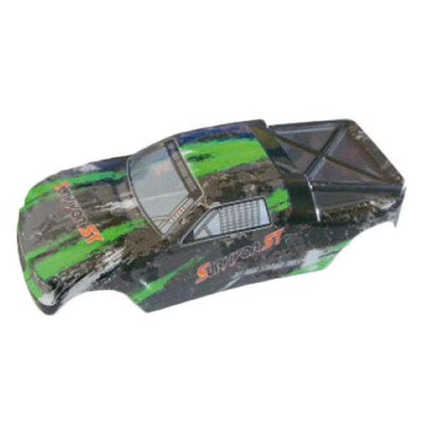 002-12685 Karosserie Truggy green EVO 4T