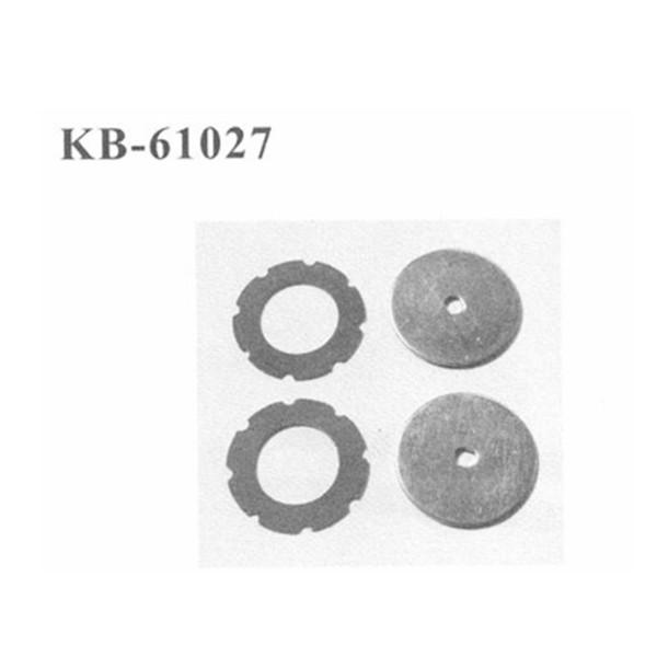KB-61027 Backplate inkl. Pad für Rutschkupplung