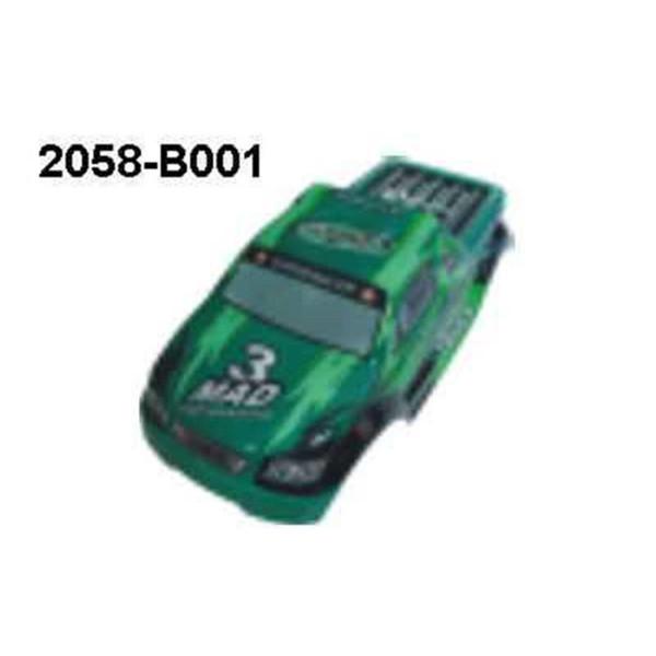 2058-B001 Karosserie Grün Monstertruck Brutal Pro