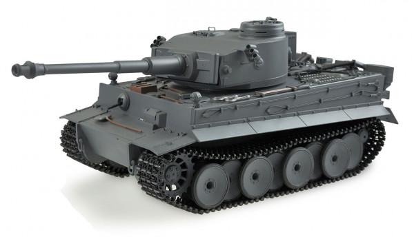 RC Panzer 1-16 Tiger I Full Metal 2,4GHz,mattgrau lackiert, mit Sound. Komplett aus Metall_