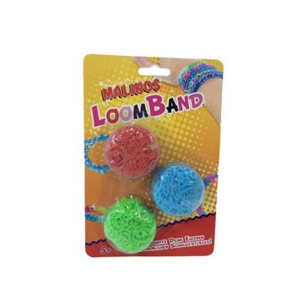 Malinos Loom Bands 750 Stück 750 Bands/24 Clips
