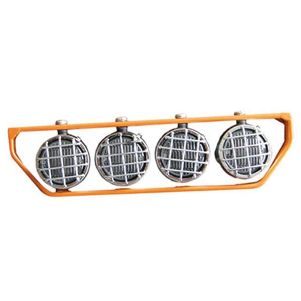 Dachscheinwerfer orange mit 4 LEDs