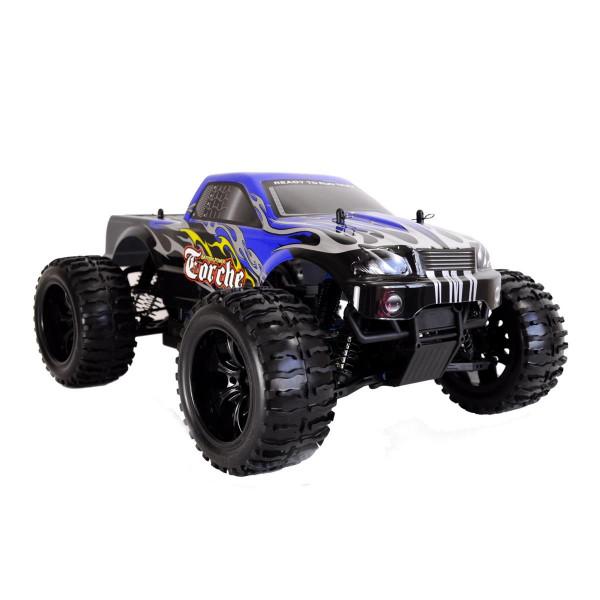 Ferngesteuerter Monstertruck AMEWI Torche Brushed 4WD, 1:10, RTR, blau oder orange