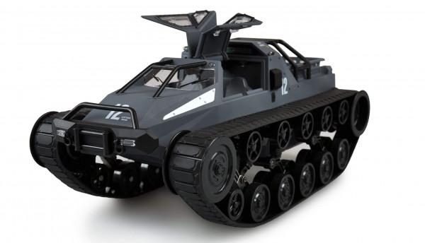 Ferngesteuertes Amewi Ketten-Drift-Fahrzeug 1:12 Military Police grau/ blau inkl. Akku & Ladegerät