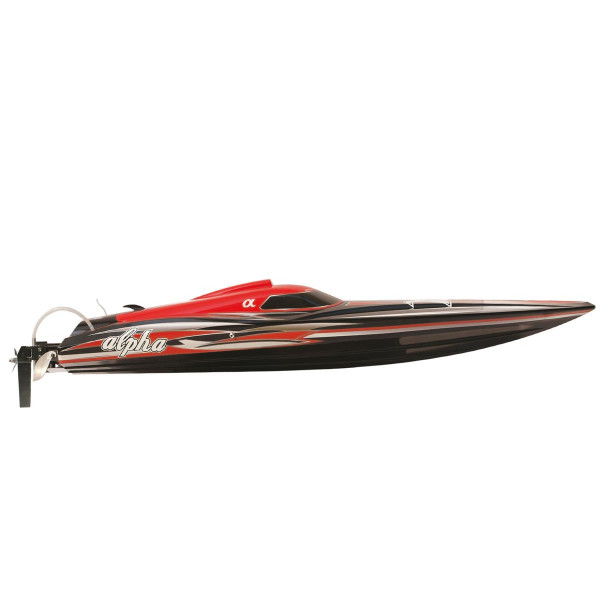 "RC Speedboot ALPHA 106cm 4-6S rot ""ALPHA Flame Scheme"""