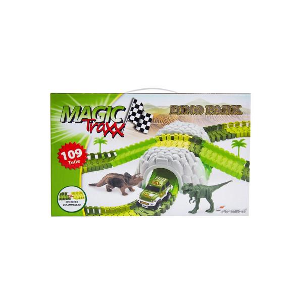Magic Traxx Dino-Pak, Mini Set mit Tunnel 109-teilig