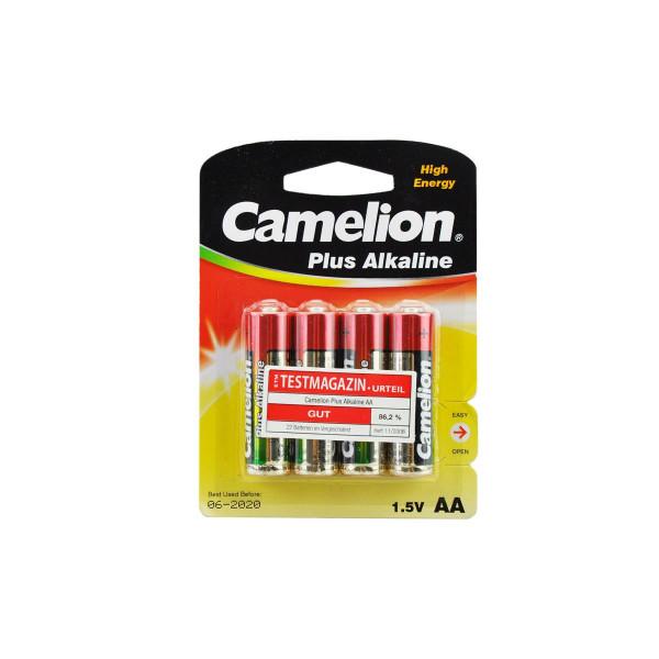 4er Blister Camelion Plus Alkaline 1,5V AA Batterien