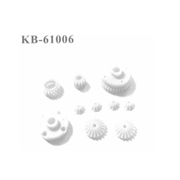 KB-61006 Zahnräder, 8 Stück Differential + Getriebe