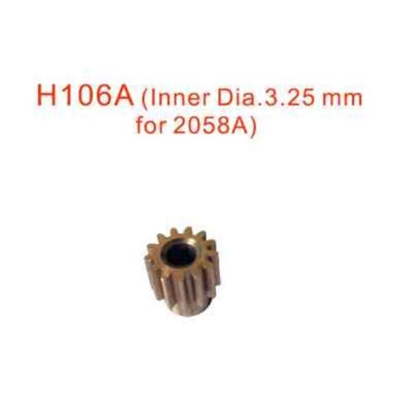 H106A Motorritzel 12Z , Inner Dia. 3.25mm