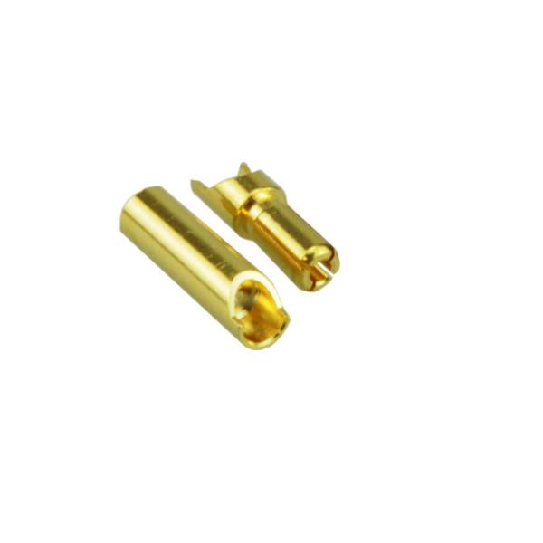 4mm Goldkontakt geschlitzt Stecker & Buchse