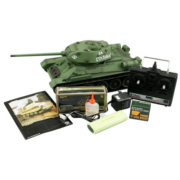 """Panzer """" T-34/85 """" 2.4GHz M 1:16 / R&S / Metallgetriebe"""
