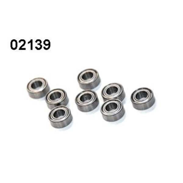 02139 Kugellager 5x10x4mm 8 Stück