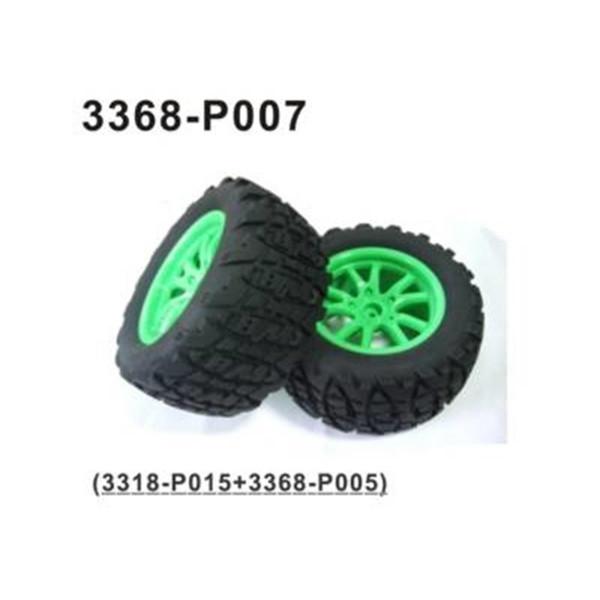 002-3368-P007 Komplettrad fein vorne /hinten 2 Stück